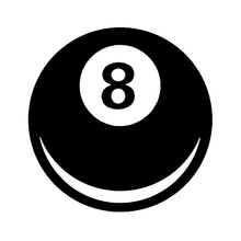 An Interesting Magic 8 Ball Can Decorate The CarS Shape Art Painting Car Stickers Vinyl Decor Decals
