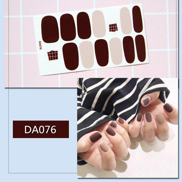 De moda de la cubierta completa de esmalte de uñas envuelve adhesivo pegatinas de uñas de Arte de uñas de manicura herramientas ambiental para la mujer embarazada