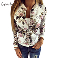 Goodbuy 2017 Spring  New Arrival Women Jacket Printed Floral Women Outwear Coat Chaquetas Mujer Zipper Casual Lady Coat Femme