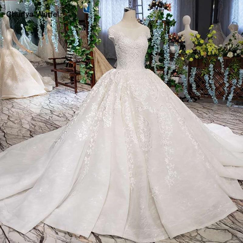 LSS513 vintage wedding dress with wedding veil o neck lace up v back like white bridal
