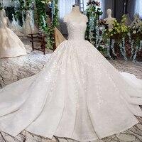 LSS513 винтажное свадебное платье с вуалью для свадьбы с круглым вырезом и шнуровкой, v образный вырез, как белое свадебное платье 2019 vestido de noiva