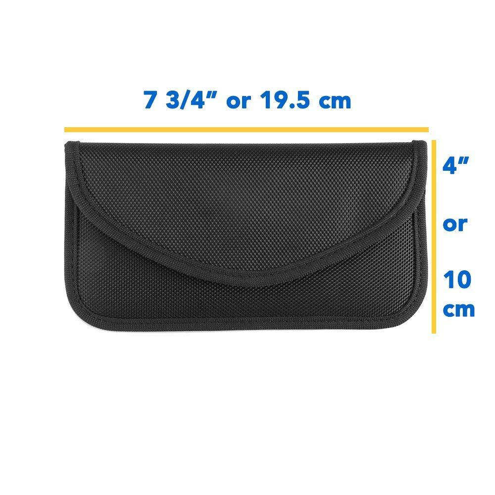 All in One EMF Signal Blocking Pocket, For Phones 1-5G, Car Keys, FOB WIFI/GSM/LTE/NFC/RF 5G Blocker 3