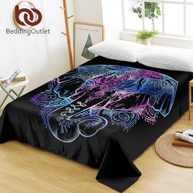 Matrimonio Bohemien Queen : Beddingoutlet elephant queen bed sheets lotus flower flat sheet
