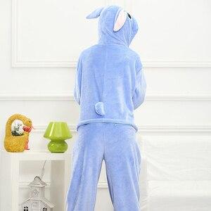 Image 3 - Adult Blue Stitch Kigurumi Onesie Women Girl Fancy Ainme Cosplay Costume Party Cartoon Pig Animal Jumpsuit Home Suit Pajamas