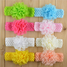 Flower Hair Band Elasticity Width Headband Kids Flower Headwear hair Accessories EASOV W032