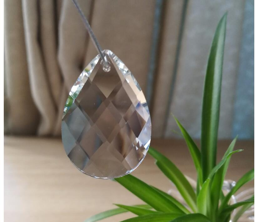 Free Shipping 50 pieces 38MM K9 Optical Clear Crystal Prism Ornament Suncatcher <font><b>Glass</b></font> Beads For Chandeliers Crystal Lamp Droplet