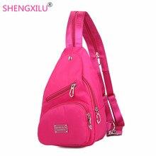 Shengxilu casual femmes sac à dos dames de mode sacs à dos marque logo nylon rose filles épaule sacs shopping daypacks femmes sacs