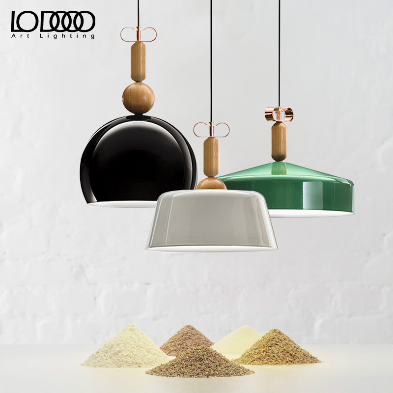 Nordic Modern Colorful Wood Pendant Lamp For Restaurant