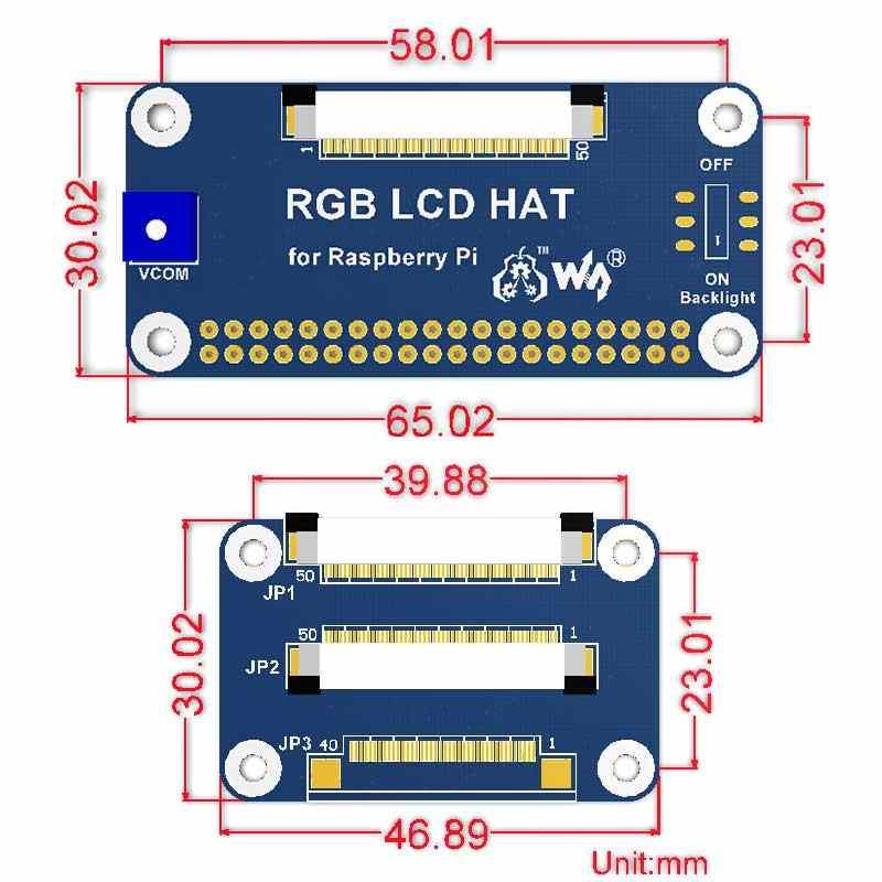 Raspberry Pi RGB lcd драйвер платы dpi драйвер 5 дюймов 7 дюймов 10,1 дюймов