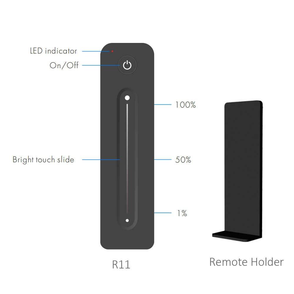 Ściemniacz LED wzmacniacz 12V 5V 24V 36V 8A PWM bezprzewodowy RF 2.4G dotykowy zdalnego sterowania jasnością przełącznik regulacji dla pojedynczego kolorowy pasek LED