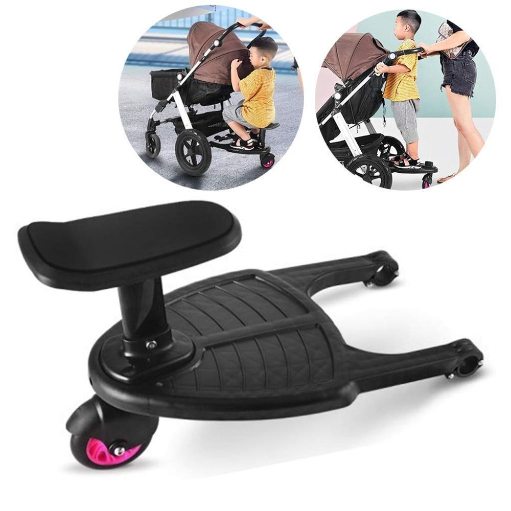 Baby Accessories Kid Glider Board Pedal Adapter Auxiliary Trailer Stroller Organizer Twins Kids Standing Plate Sitting With Seat