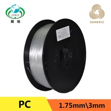 7 optional colors PC 3D1.75 printer filament with high toughness and plump colors free shipping