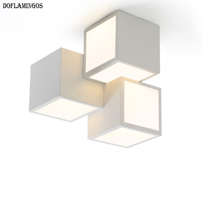 Back To Search Resultslights & Lighting Inventive Modern Geometric Box 3d Diy Ceiling Light For Bedroom Foyer Iron Acrylic Cube Combination Illuminare Lighting Fixture 2399 Ceiling Lights