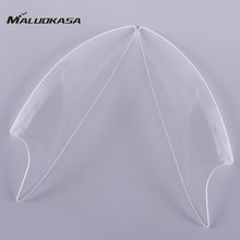 MALUOKASA Motorcycle Headlight Lens Cover Shield For Yamaha YZF R6 2003 2004 2005 ABS Plastic Professional Replacement Cover
