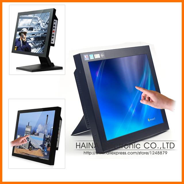12 polegada LCD Industrial Monitor de Tela Sensível Ao Toque do Portátil, 12 Tela de Toque LCD Monitor de Desktop, Monitor Touch Pos Terminal