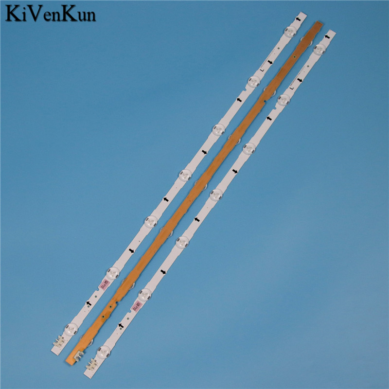 תאורה אחורית 7 תאורה אחורית LED מנורות ברצועת עבור סמסונג UE32H4000AK UE32H4100AK UE32H4510AK UE32H4500AK UE32J4000AK קורות Band LED קיט טלוויזיה (2)