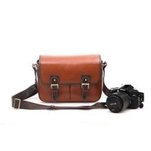 Fosoto Водонепроницаемый Винтаж Пу кожа DSLR камеры сумка через плечо портативный чехол подходит DSLR с 2 линзы для Canon DSLR камера