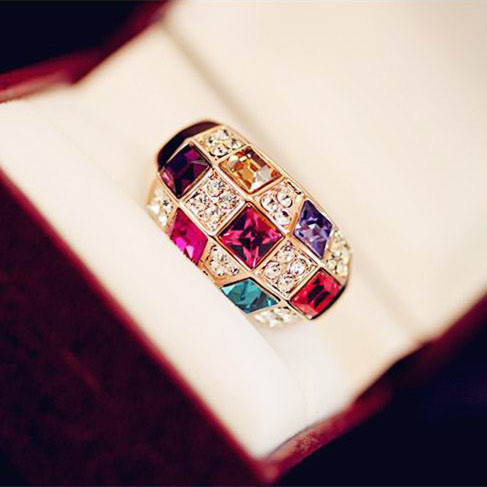 European and American style Austrian color rhinestone color crystal female luxur