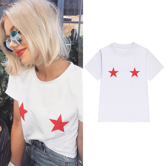 Star Titties Red Women Tshirt Cotton Casual Funny T Shirt For Lady Yong Girl Top Tee Hipster Tumblr Ins Drop Ship S-125