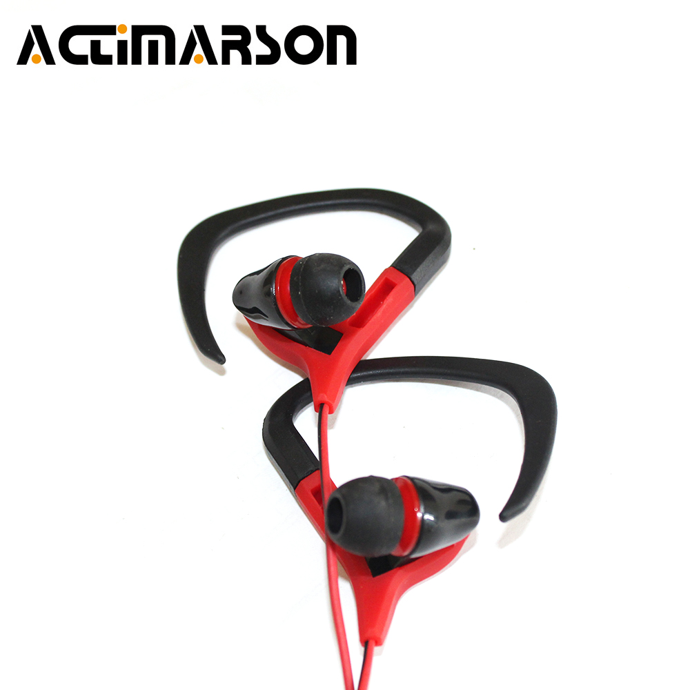 Actimarson Ear Hook Sport Headphone Wired Stereo Bass Earphone Running Outdoor Sports Headset With Mic For Mobile fone de ouvido new stereo sports headset ear hook headphone noise canceling earphone with microphone for mobile phone free shipping