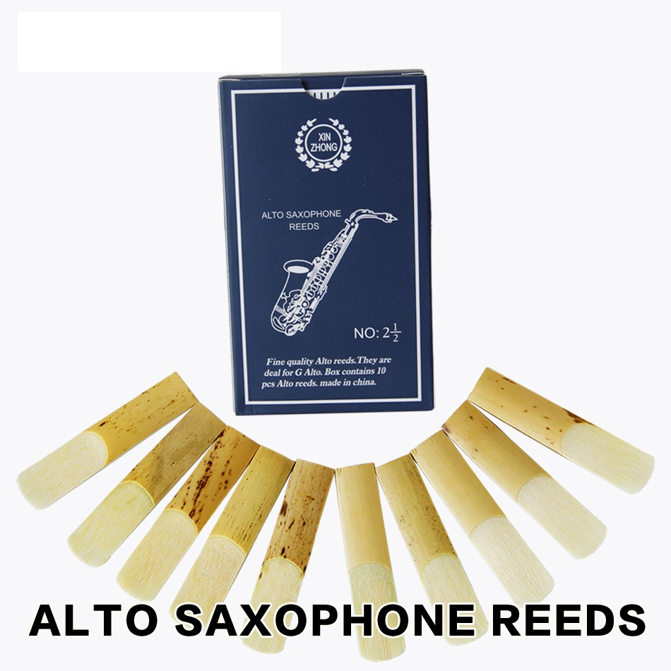 XINZHONG 2 1 2 G Alto Bb Tenor Bb Soprano Sax Saxophone Reeds for your choice 10pcs box in Saxophone from Sports Entertainment