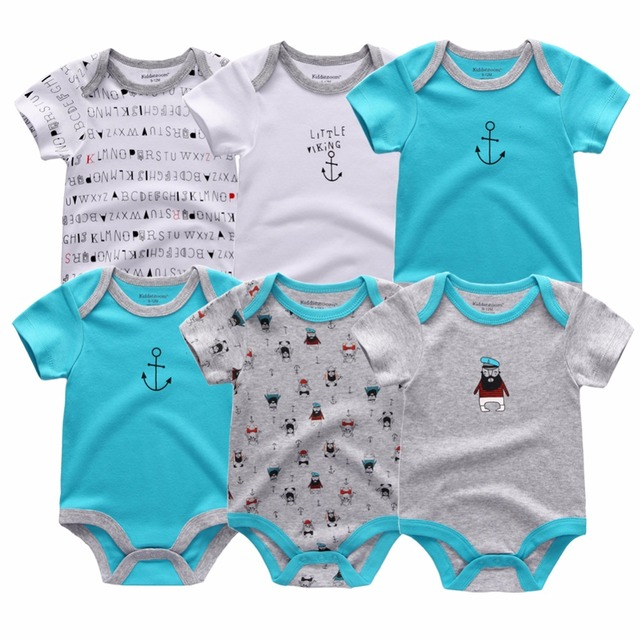 Baby bodysuits short sleeve 6 pcs/lot for 0-12M baby 3