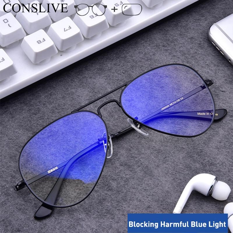 Oversized Prescription Glasses Men Aviation Eyeglasses Myopic Nearsighted Glasses Men Optical Frames Lenses JS60020