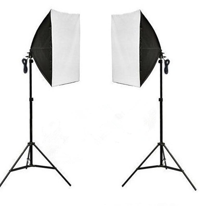 Inno New Photo Video Studio Light Stand Kit photography 50*70cm softbox with single socket*2+200cm light stand hot sale PSK5A lightdow photography studio 45w softbox light stand kit