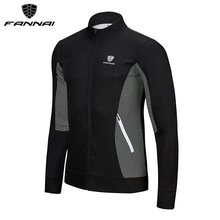 FANNAI Men Running Jackets Pullover Fitness Gym Sportswear Night Reflective Long Sleeve Jacket Sports Training T-shirt