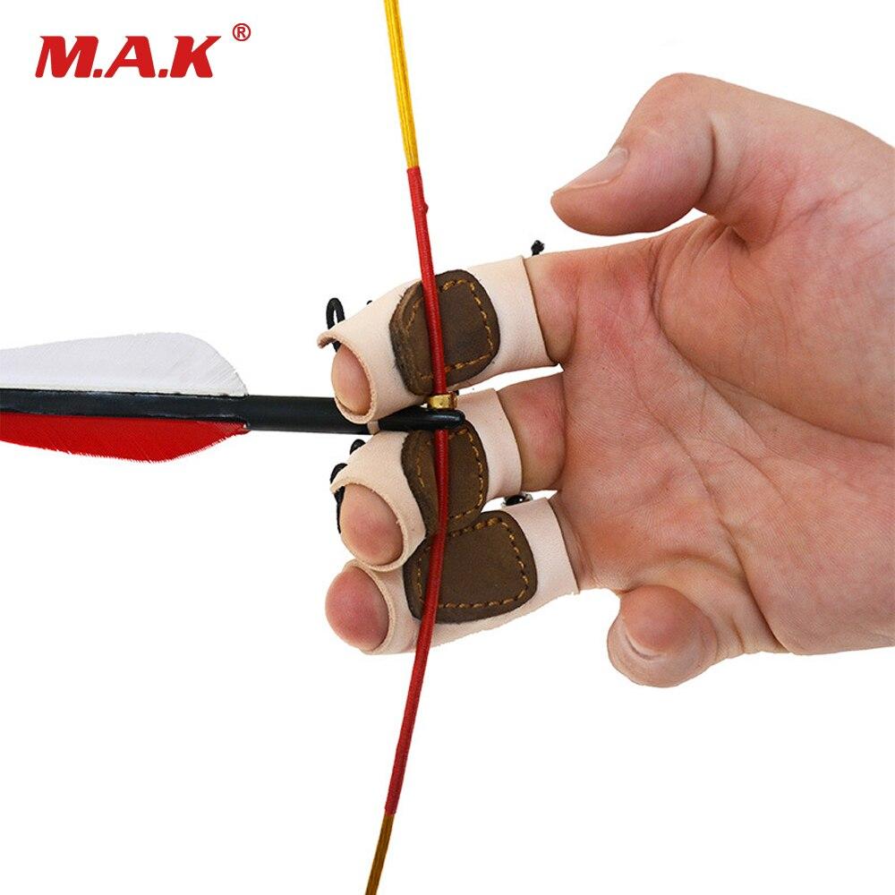 2 farbe 3 stücke Ein Finger Protector Kuh Leder Finger Tab Einstellbare Größe für Recurve Traditionellen Bogen Bogenschießen Jagd Schießen