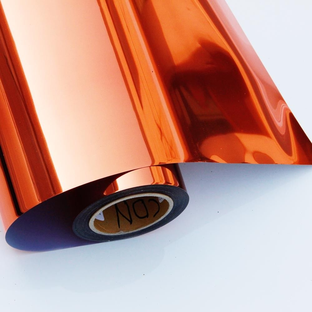 Metallic Heat Transfer Vinyl 50cm30cm Orange  color Tshirts Garments20