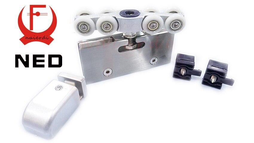 Online Shop NED Adjustable Sliding Glass Door Rollersu0026Hangers, Hanging  Wheels For Sliding Glass Doors,Sliding Shower Door Rollers | Aliexpress  Mobile