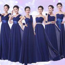 Free shipping 2016 Hot Sweetheart Strapless A-line Floor Length Dark Titanium Blue Chiffon Long Bridesmaid Dresses
