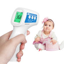 Cofoe font b Thermometer b font Body Temperature Fever Measurement Forehead Non Contact Infrared LCD IR