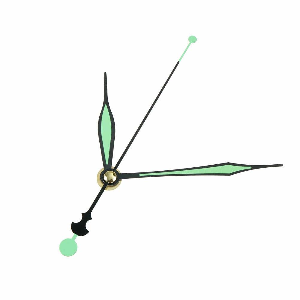 6 أنماط 1 مجموعة جديد مضيئة الصامتة الكوارتز ساعة حائط المغزل حركة آلية جزء DIY الجزء إصلاح كيت المغزل طويلة الأيدي