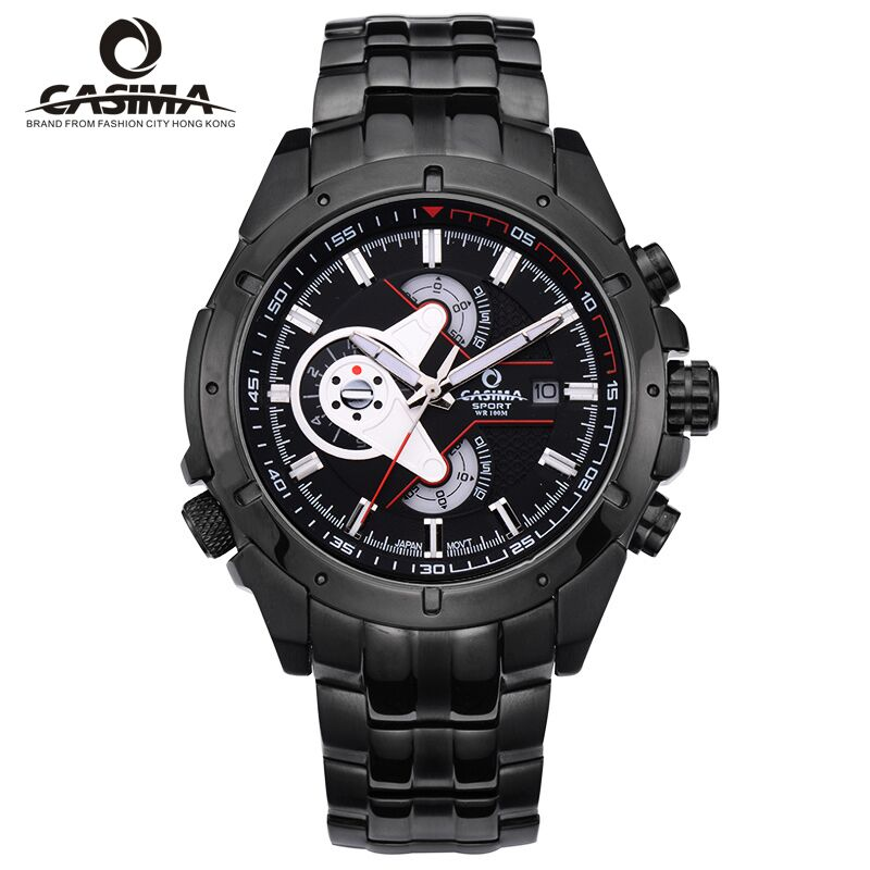 CASIMA Luxury Brand Sport Watches Men Multi-functional Quartz Wristwatch Waterproof 100m montre homme Men Watch reloj hombre цена