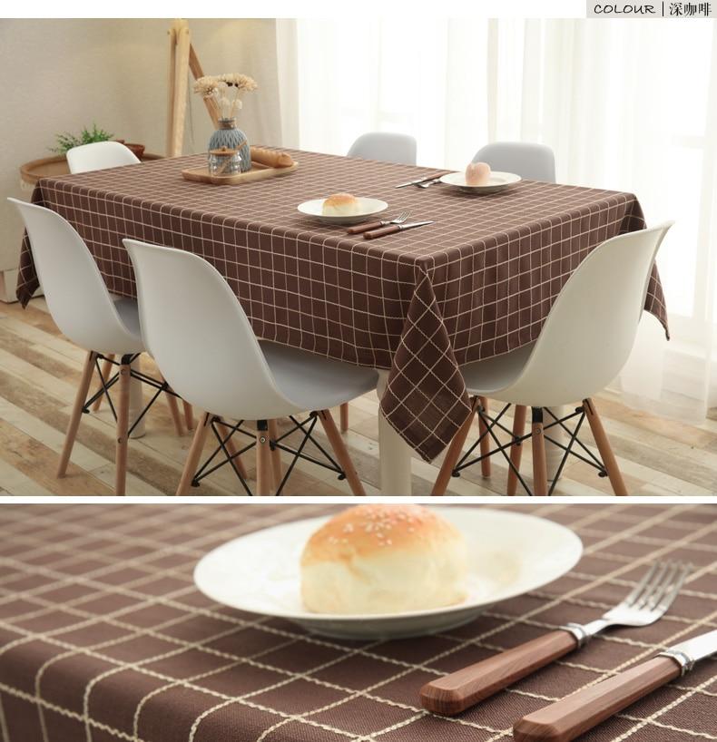 Solid Lattice Square Tablecloth Simple Wedding Decoration Table - Round lattice coffee table