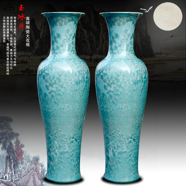 Jade Borneol Crystalline Glaze Of Large Vase Now In Vases From Home