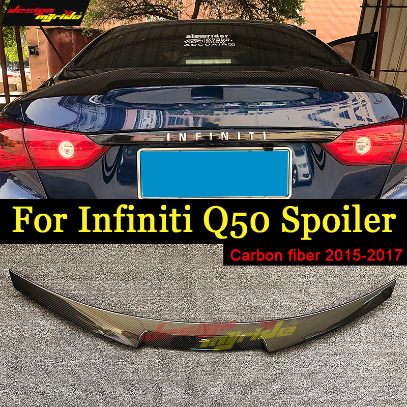M4 Style Spoiler For Infiniti Q50 Q50S Spoiler Carbon M4 Style 2015-2017 Carbon Fiber Rear Trunk Wing Spoiler Lid Q50 spoiler rear spoiler for infiniti q50 q50l q50s 2014 2015 2016 high quality diffuser pp material big spoiler q50 q50l q50s