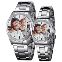 Custom Made Quartz Watch Lover S Watches Photo Printed Dial Picture Print DIY Wristwatch Customized Clock