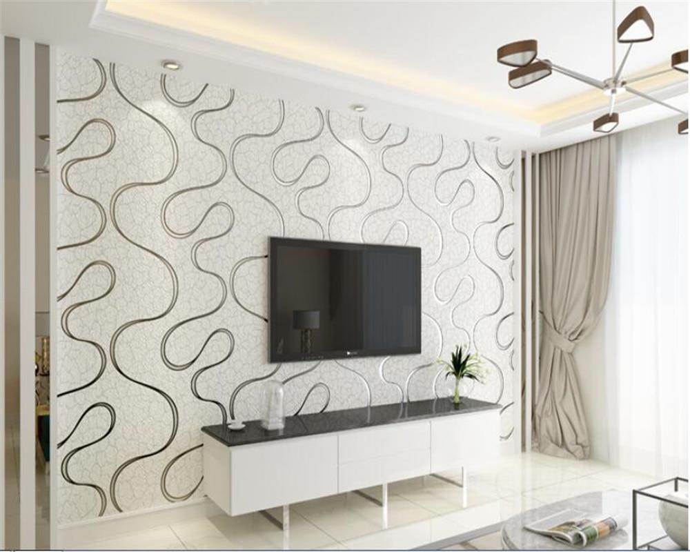 beibehang behang 3D sofa TV background wallpaper modern minimalist fashion deerskin cashmere non-woven wallpaper papel de parede