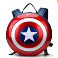 Captain America Shield Backpack for Teenager Mens Women Metal PU Travel Backpacks High Quality Shoulder School Bag Rucksack New