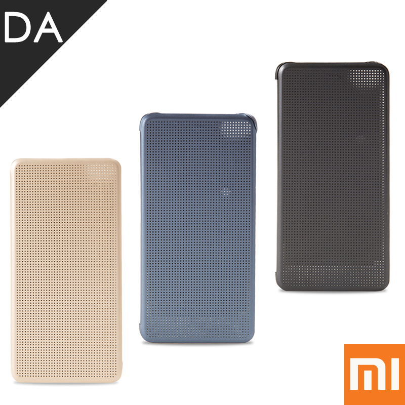 imágenes para Xiaomi MI5S Dot Ver Caso Del Tirón de Cuero de LA PU de La Cubierta Del Tirón Inteligente para Mi Teléfono Inteligente Caja Del Punto Original MI xiomi 5S Contraportada 5.15 pulgadas