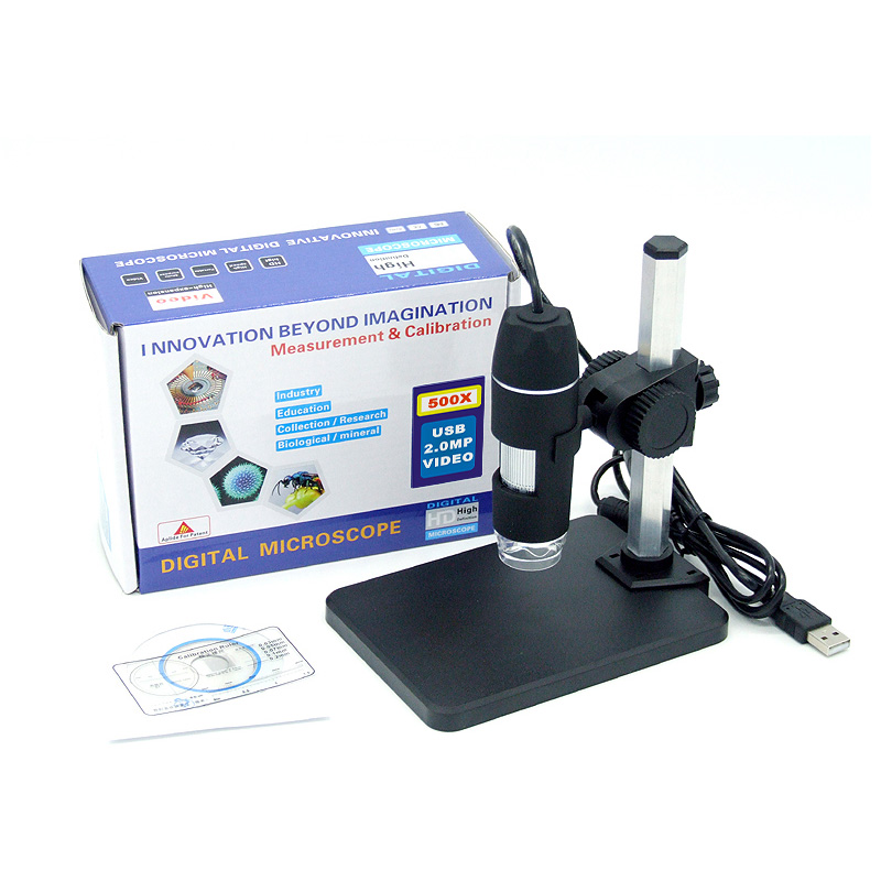 1-500x Continuous Zoom USB Digital Microscope + Holder(new) For Electronic Repair 8-LED Endoscope With Measurement Software  цены