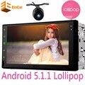 Универсальный 2 din Android 5.1 стерео mp4 mp5 плеер с СЕНСОРНЫМ 16 ГБ Quad Core Bluetooth Радио 2din авто Аудио-Плеер автомобиля GPS Навигации