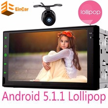 Universal 2 din Android 5.1 Car stereo mp4 mp5 player GPS 16GB Quad Core Bluetooth Radio 2din auto Audio Player GPS Navigation
