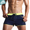 New Men's Swim Shorts Quick Dry Beach Shorts with Lining Liner Sport Summer Men's Board Shorts Surf Swimwear Sea Shorts AC429