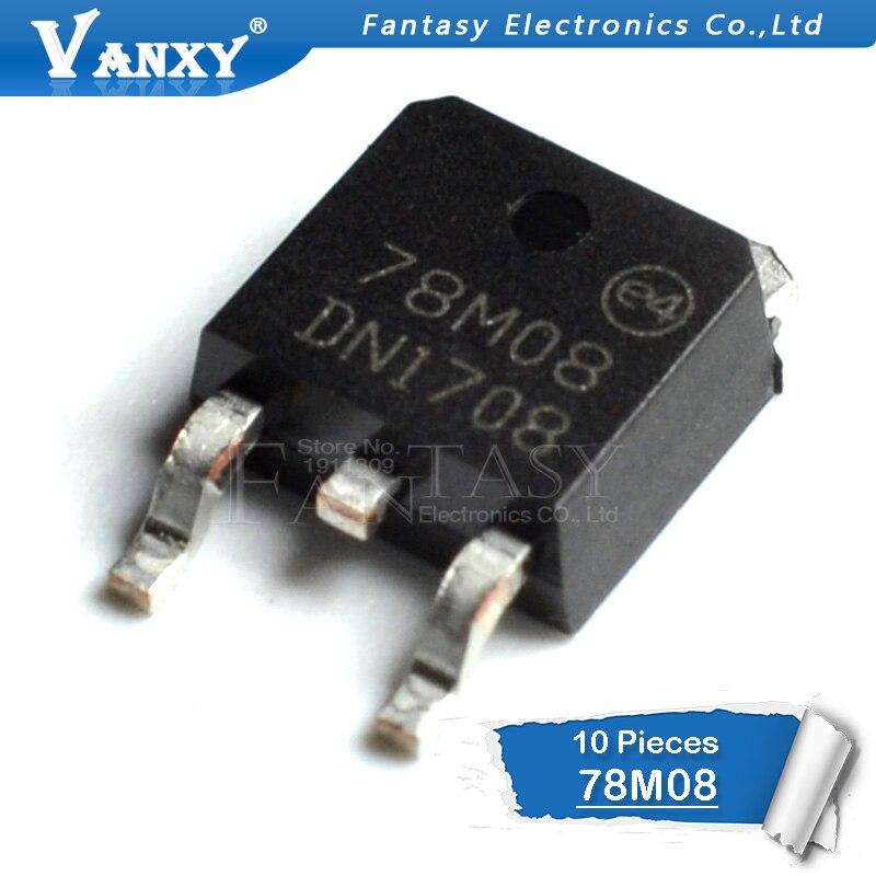 10PCS 7808 78M08 TO252 L78M08CDT L78M08 Three Regulator TO-252  SMD New And Original
