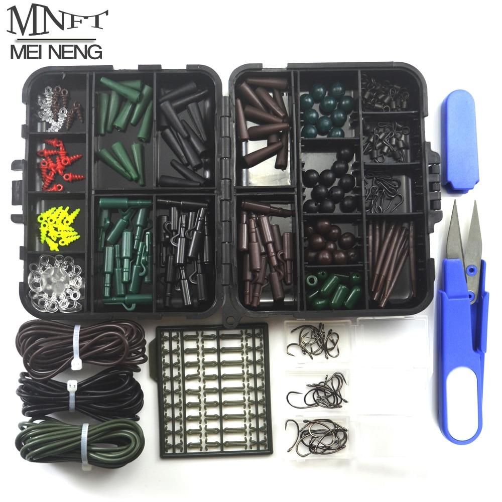 1 Set Assorted <font><b>Carp</b></font> <font><b>Fishing</b></font> <font><b>Accessory</b></font> Line Scissors Stopper Hook Swivel Rubber Sleeve Sinker Lock Hair Rig etc. Terminal Tackle