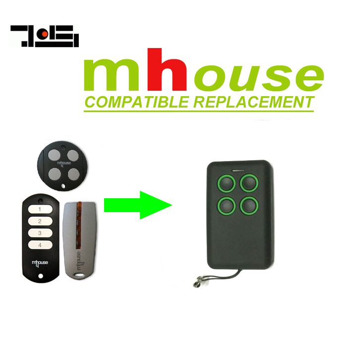 2pcs MHouse GTX4, GTX4C,TX4 garage door compatible remote control opener rolling code free shipping цены